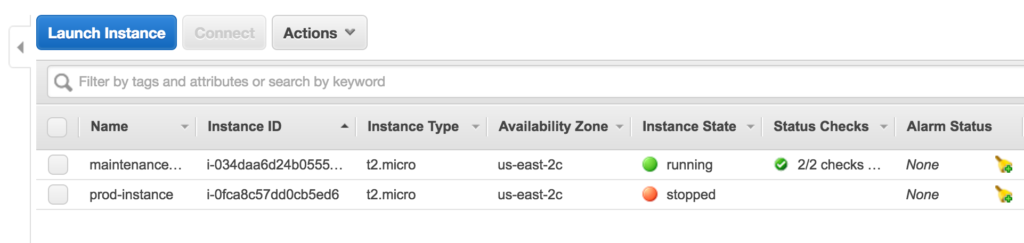 Fixing an AWS EC2 Instance Boot Up Issue - Home